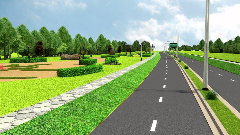 Landscaping Along Roads