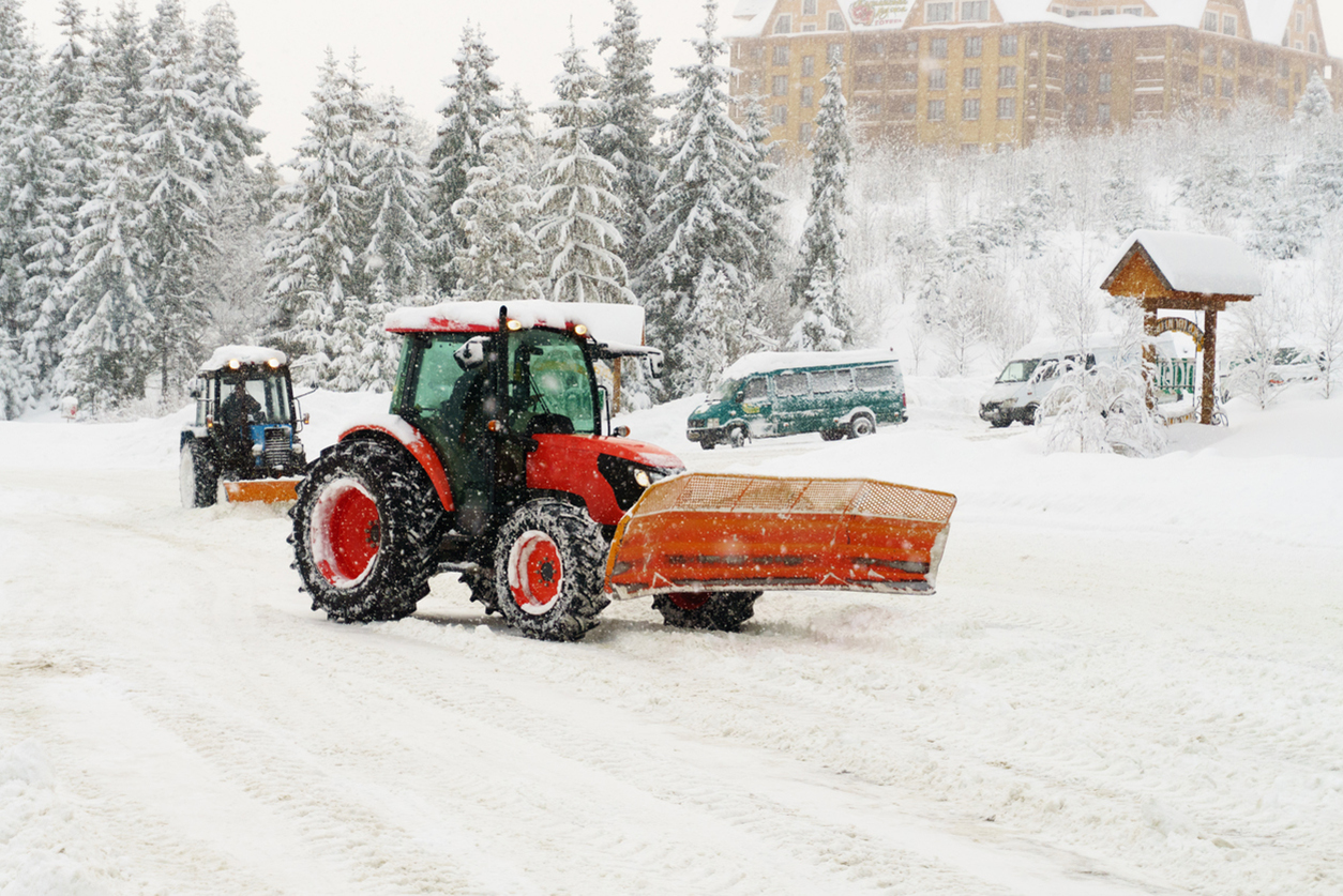Tractor snow removal